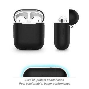 Image 2 - Caixas para fones de ouvido, estojo para fones de ouvido airpods da apple fone de ouvido tomada de poeira
