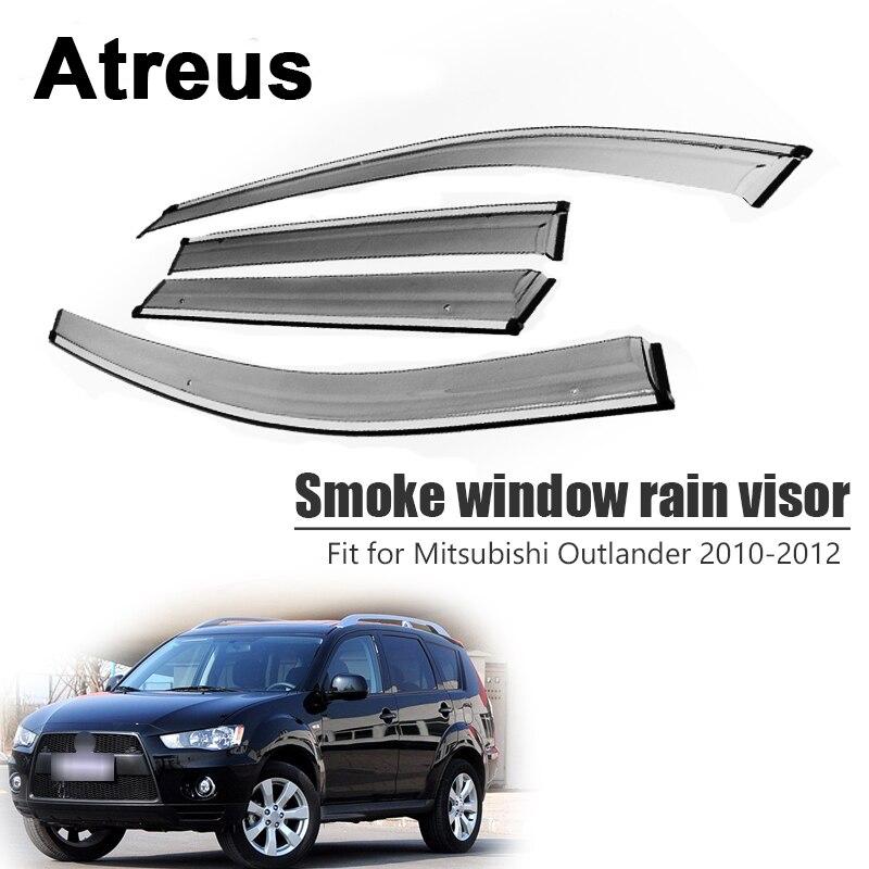 Atreus 4pcs For Mitsubishi Outlander 2010 2011 2012 Car Door Smoke Window Sun Rain Visor Wind
