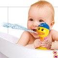 2016 Novo Presente Das Crianças Crianças Pato Amarelo Botão Imizu Brinquedos de banho Do Bebê Banho de Água De Pulverização Brinquedo Sustentada Jogar Torneiras encaixotado