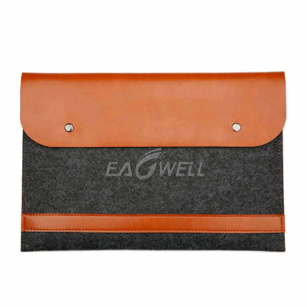 """Eagwell אוניברסלי צמר הרגיש + PU עור מחשב נייד שרוול תיק פאוץ עבור 11 """"13"""" 15 """"מחשב נייד מחברת תיק עבור macbook air 11"""