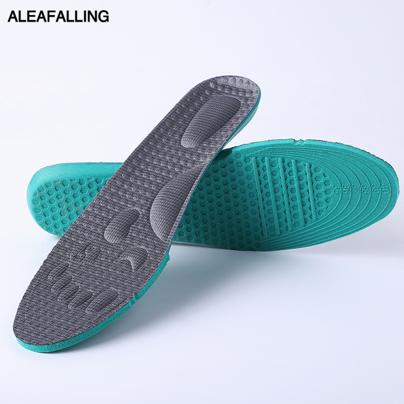 Aleafalling Soft Insoles Professional Cushion Foot Care Shoe Inserts Pad Shoe Gel Cool Deodorant Orthotic Silicone Insole 35-45