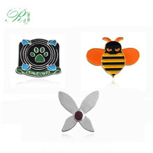 RJ New Miraculous Ladybug Brooches Pins Cat Noir Green Claw Queen Bee Butterfly Badges Kids Shirt Xmas Brinco Anime Jewelry Gift(China)