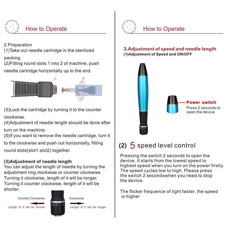 12pin) original derma caneta selo terapia equipamentos