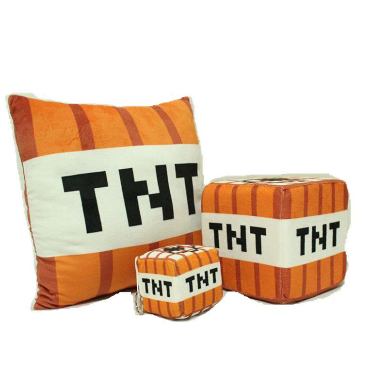10cm 20cm 40cm Minecraft TNT Plush Pillow For Children font b Toys b font Birthday Gift