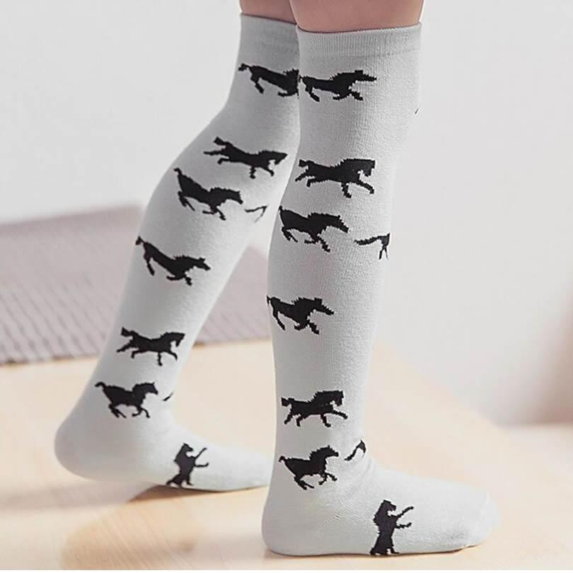 Children socks wholesale cotton goods barreled girls knee high socks baby cotton socks cartoon Leg warmers clouds colt 1-6year