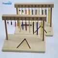 Детская игрушка Монтессори 1-20 бусин подвесная рама дерево для раннего детского образования дошкольников дети Brinquedos Juguetes