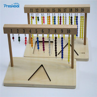 Baby Toy Montessori 1 20 Beads Hanging Frame Wood for Early Childhood Education Preschool Kids Brinquedos Juguetes
