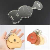 1set Acrylic Stencil Template DIY Leather Handmade Craft Keychain Key Bag Sewing Pattern 8.5*8.3*0.4cm