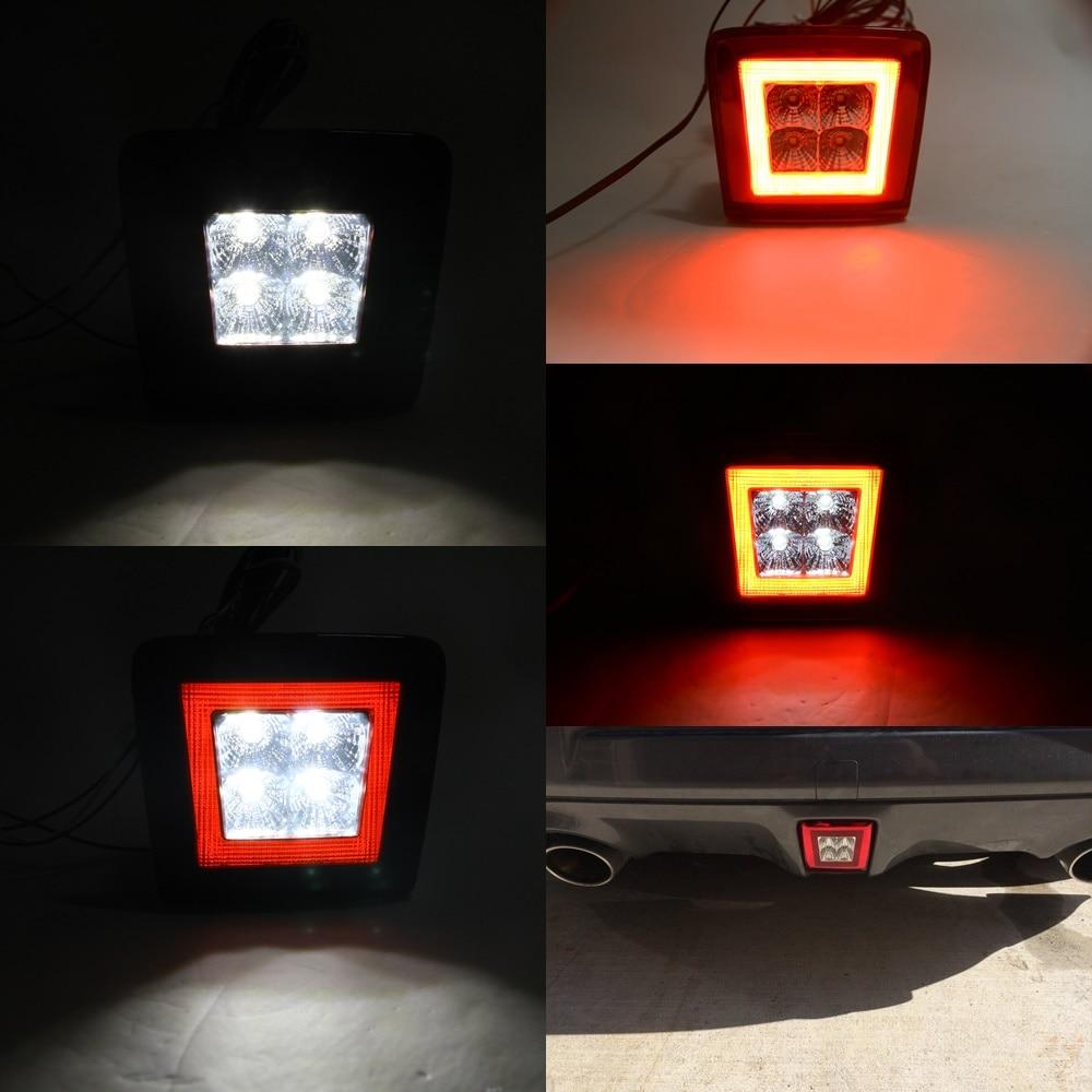 1pcs All-in-one LED Rear Fog Light, Brake and Backup Reverse Light For 2009-14 Nissan 370Z Led 4th Brake light 12V Car styling