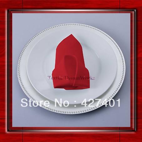High Quality 45x45cm Red Polyester Plain Napkin / Table Napkin / Hotel Napkin / Dinner Napkin (Factory Direct Sale)