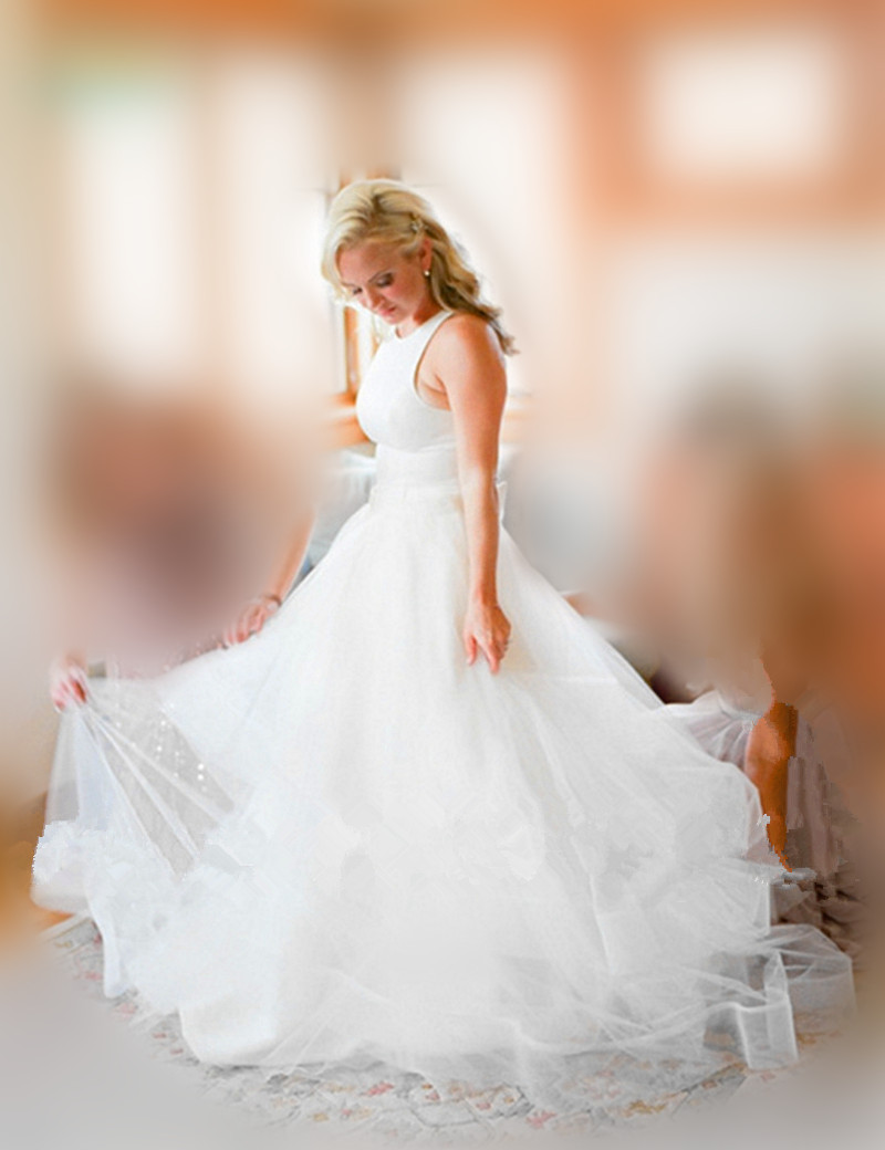 Fashionable exquisite in stock bridal gowns sleeveless for In stock wedding dresses