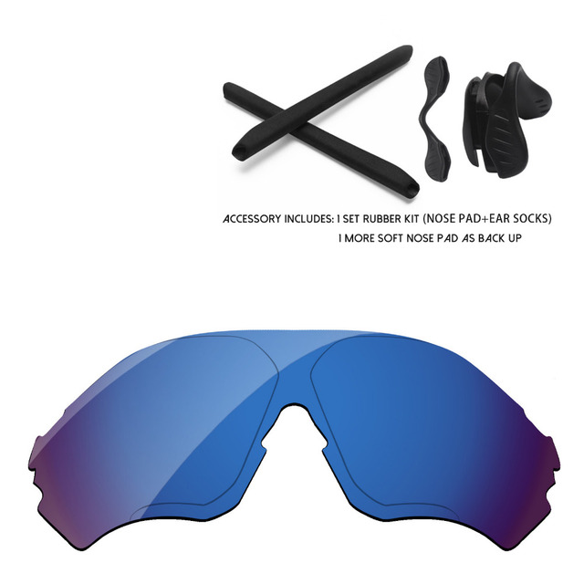 d9ca478b56 Agua Profunda espejo polarizado lentes y caucho Kits para EVzero rango gafas  de sol marco 100