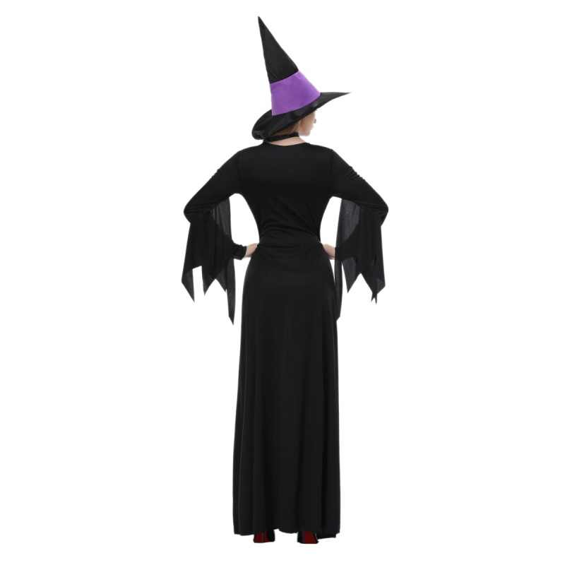 2018 Dia Das bruxas Dança saia longa cosplay roxo vestido da dança traje role-playing palco pano