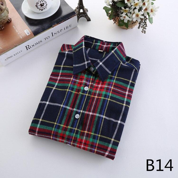 2018 Fashion Plaid Shirt Female College Style Women's Blouses Long Sleeve Flannel Shirt Plus Size Casual Blouses Shirts M-5XL 28