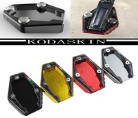 KODASKIN Motorcycle CNC Aluminum Side Stand Enlarge Plate For Ducati Multistrada 1200 MONSTER 821 1200 1200S 2014 2015 MONSTER 7
