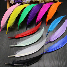 50pcs diy 13 color feathers curved goose feather jewelry clothing accessories handmade wholesale AC096