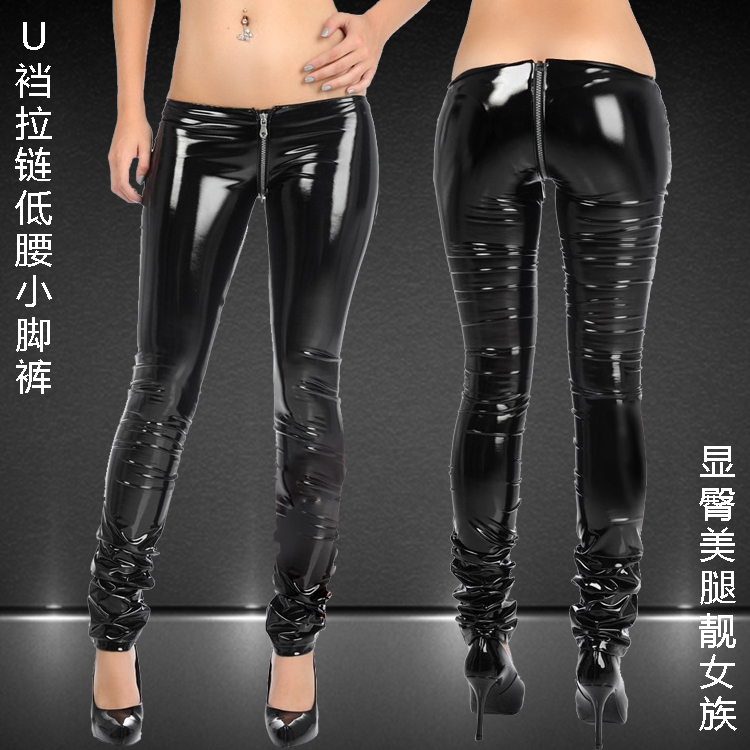 Hot leather pants pvc sexy