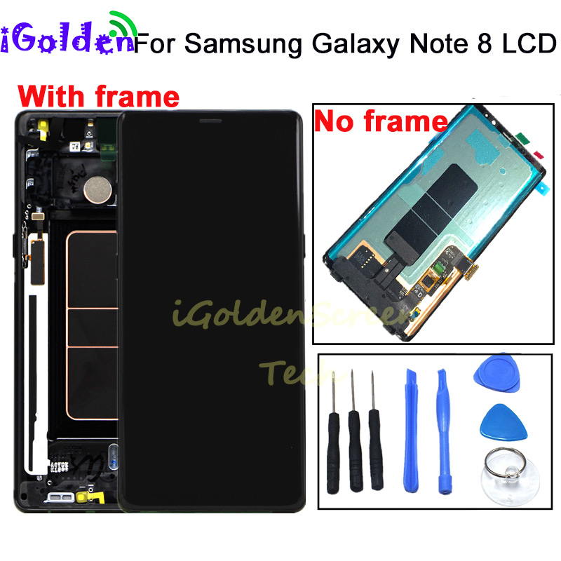 For Samsung Galaxy Note 8 LCD Touch Screen Digitizer Assembly with frame For Samsung Note8 N950