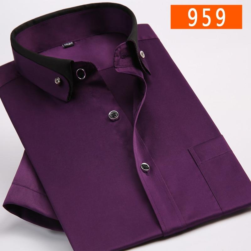 ca8b36333d2b5df Молодые летние высокого качества Новое поступление модные мужские  формальные повседневная мужская рубашка с коротким рукавом супер Большие  размеры M ...
