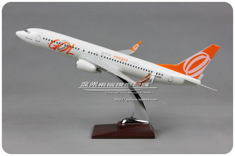 40cm Boeing 737 Brazil GOL Aircraft Model Brazil Airlines B737-800 PR-GTF Airplane Airbus Resin Aircraft Aviation Airways Model 40cm resin aircraft model boeing 737 nigeria airways airplane model b737 med view airbus plane model stand craft nigeria airline