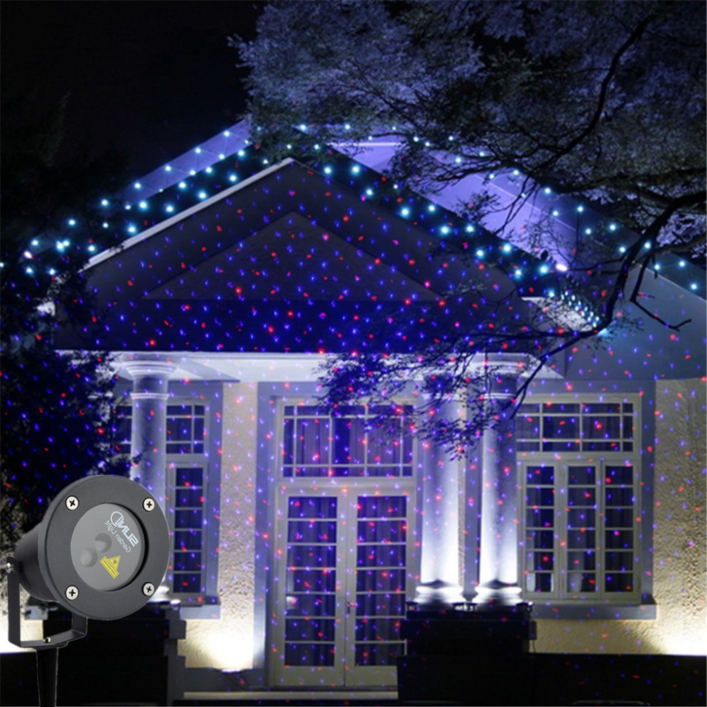New Red Blue Laser Outdoor / Indoor Projector Lights Landscape Garden Home Party Xmas Lighting GO-100RB new outdoor indoor green laser blue led projector lights landscape garden decoration home party xmas buried lighting gol 100g
