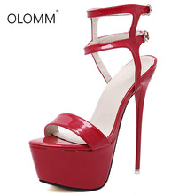 Ankle Cross Strap 16CM Thin Heels