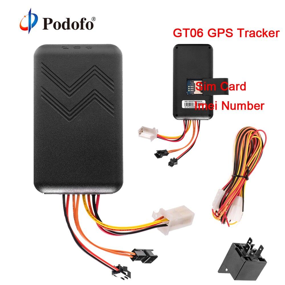 Podofo GT06 GPS трекер SMS GSM GPRS автомобилей трекеры локатор Дистанционное управление для мотоциклов Авто Грузовик Скутер устройства слежения