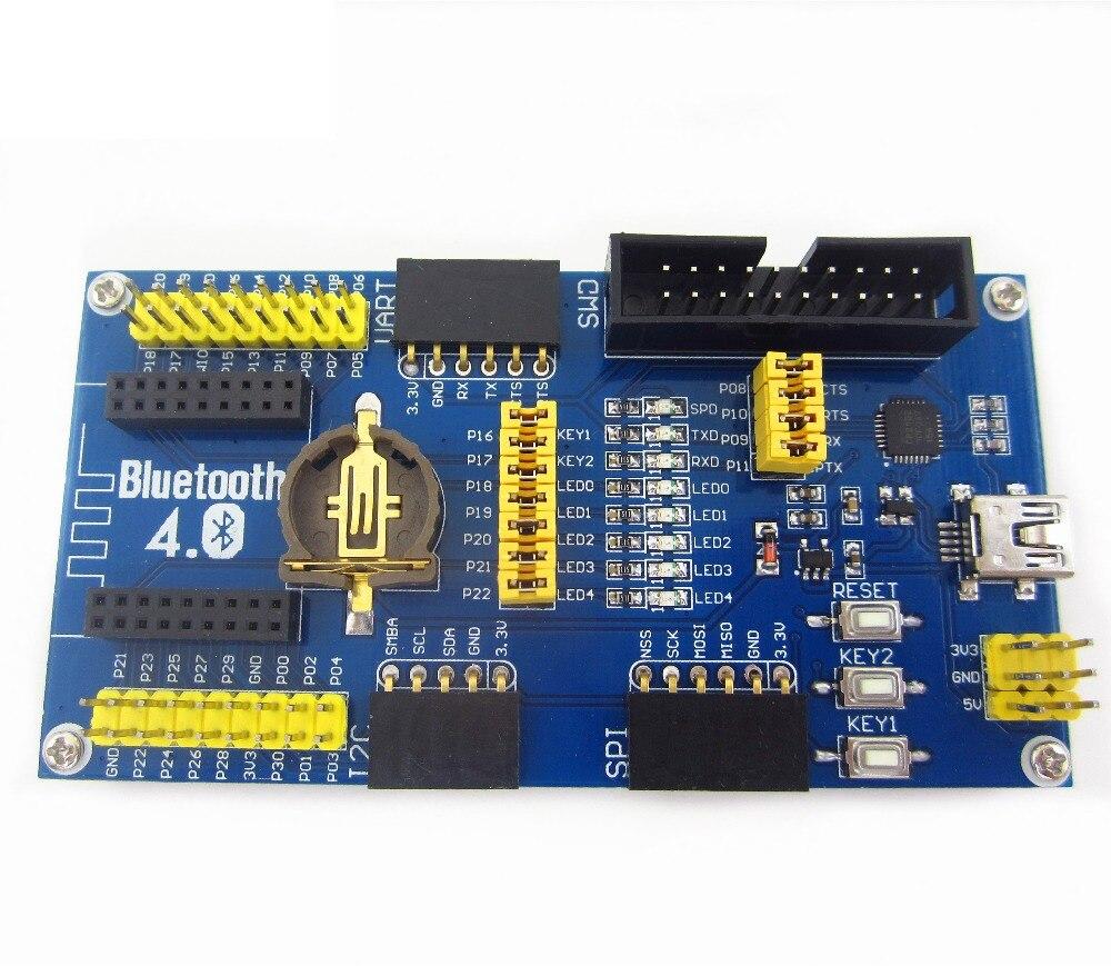 1PCS BLE4.0 Bluetooth NRF51822 Module 2.4G Wireless Communication Module Mother Board Expansion Development Board Kit module xilinx xc3s500e spartan 3e fpga development evaluation board lcd1602 lcd12864 12 module open3s500e package b