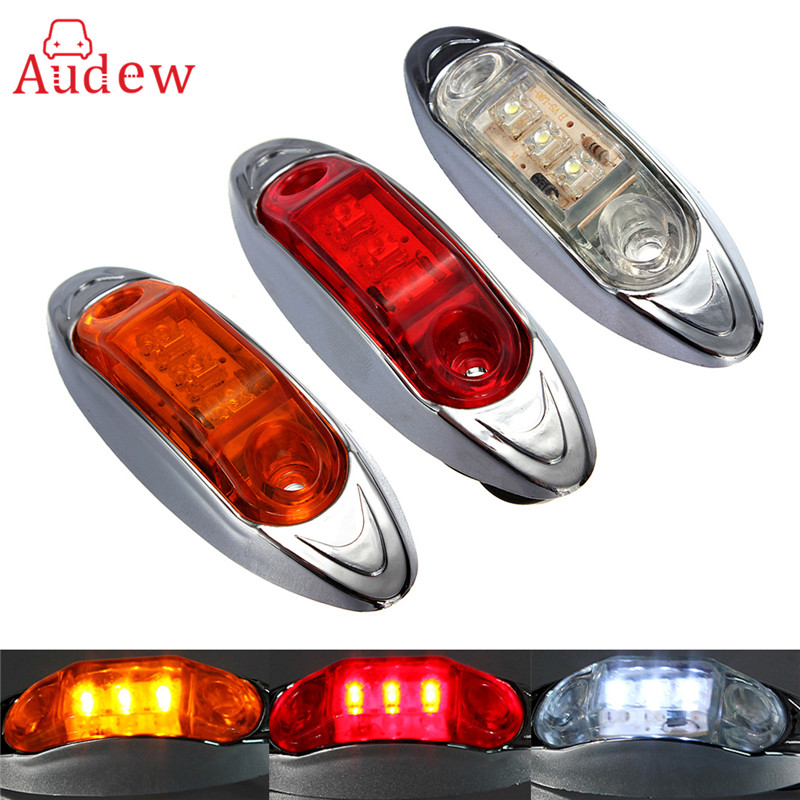 2Pcs 12V Truck Lorry Trailer Amber LED Light Side Marker Clearance Lamp Submersible Turning Lamp Red Stop Tail Light 2x 12 24v led side outline stalk marker light lamp e8 e mark trailer truck lorry