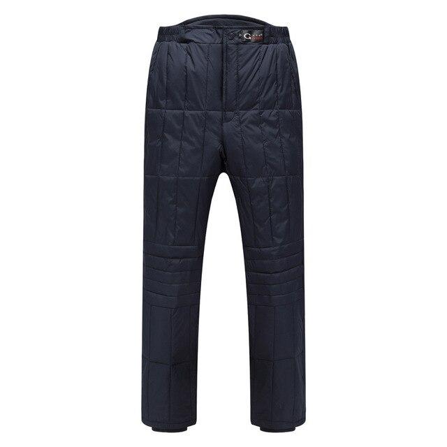 Брюки Большой размер L-XXXL новых людей толстые зимнее белоснежка утка вниз тепло внутри носить лайнер брюки для мужчин, 2 цветов, 5603