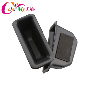 Color My Life 2Pcs/Set Car ABS Armrest Container Door Storage Box Handle Boxes Case For Ford Explorer 2016 2017 2018 Accessories image