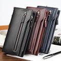 Мужчины в бумажник рельефный большие молния сцепление мешок имеет ремень мобильный телефон карта портмоне держатель вкладыш