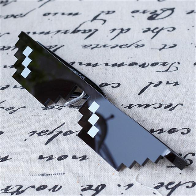 Tratar Con Él Sunlasses 8 Bits Píxeles Gafas mujeres de Los Hombres Gafas de Sol Hombre Mujer Espejo Retro