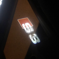 2X Car Decorative Lamp Welcome Light LED Door Logo Projector Ghost Shadow Light For Audi A3