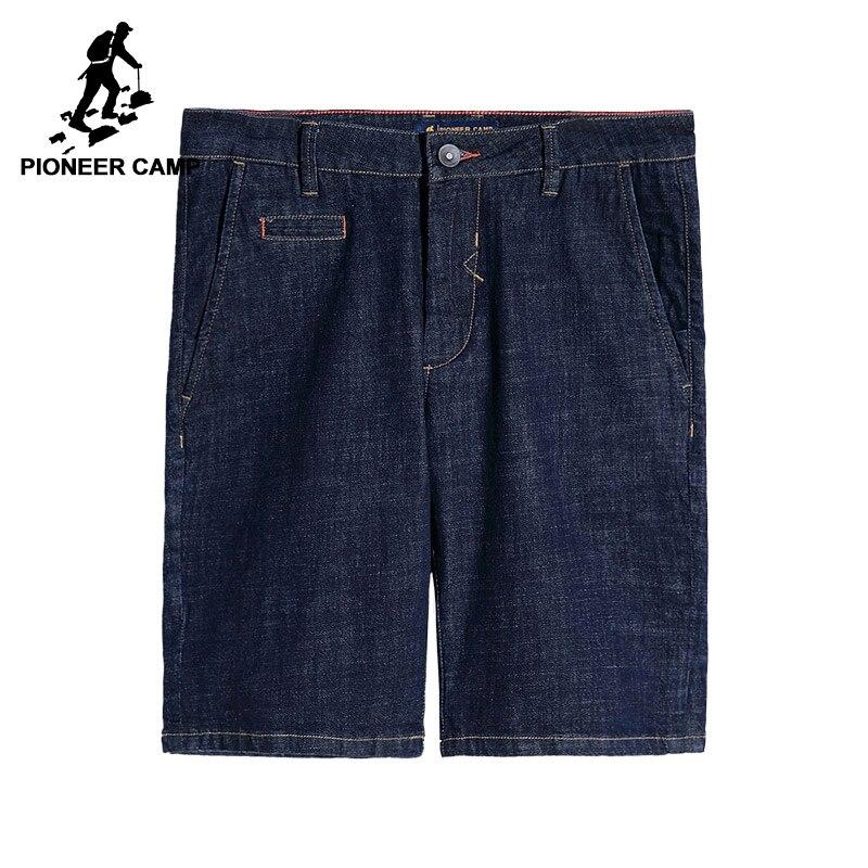 Пионерский лагерь темно-синие укороченные джинсы мужские брендовые-одежда сплошной Повседневная летняя обувь Шорты мужской наивысшего ка...