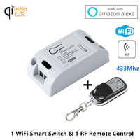 Wifi Smart Switch 433Mhz RF Receiver Smart Home Automation Module Wireless Remote Light Timer Switches 110V 220V Work with Alexa