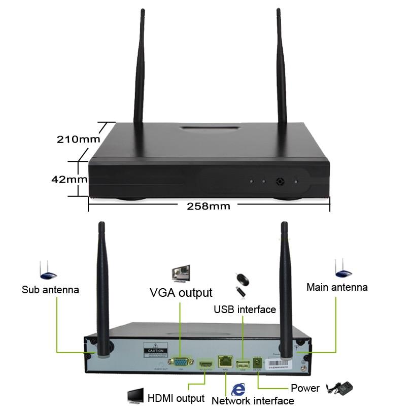 Kamera Sistem Keselamatan Kamera CCTV Wheezan 4CH NVR Wifi Camera - Keselamatan dan perlindungan - Foto 4