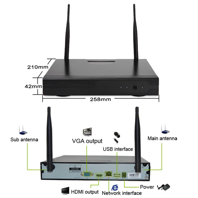 Wireless Video Surveillance System Wifi 720P HD CCTV IP Camera NVR Kit Plug Play P2P Night Vision Outdoor Security Camera System