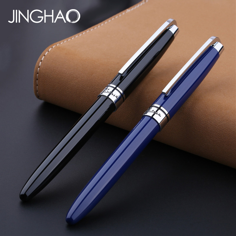 1PC High-end Pimio 912 Rolleball Pen Luxury Silver Clip Black or Blue Metal/sign/gift/writing Pens with an Original Gift Case