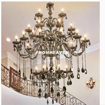 Moderne Smokey 30L Kroonluchters Verlichting Voor Woonkamer Slaapkamer Indoor Lamp K9 Crystal Lustres de Teto Plafond Kroonluchter