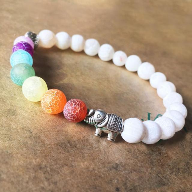 Elephant Chakra Mala Bracelet