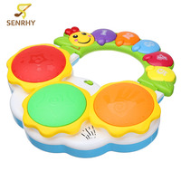 SENRHY Puzzled Educational Electronic Hand Clap Drum Light Music Childhood White Yellow Mixed Learning Musical Toys