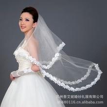 Дешевая двухслойная свадебная вуаль для невесты белая Фата 1,5 м Белый слоновой кости Красный свадебные аксессуары, фата veu de noiva LT021