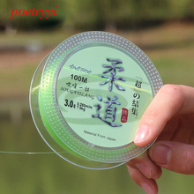 POETRYYI 100M Fluorocarbon Fishing Line  Light green colors Carbon Fiber Leader fly fishing line pesca 30
