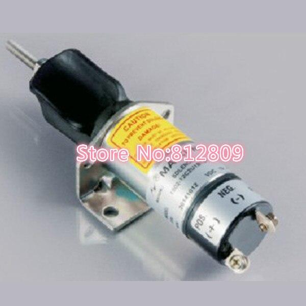 Fuel Shutdown Solenoid Valve 1502-12C2U1B1S1 SOLENOID 12V Free Shipping solenoid 02 332169 for hydraulic solenoid directional valve 12v