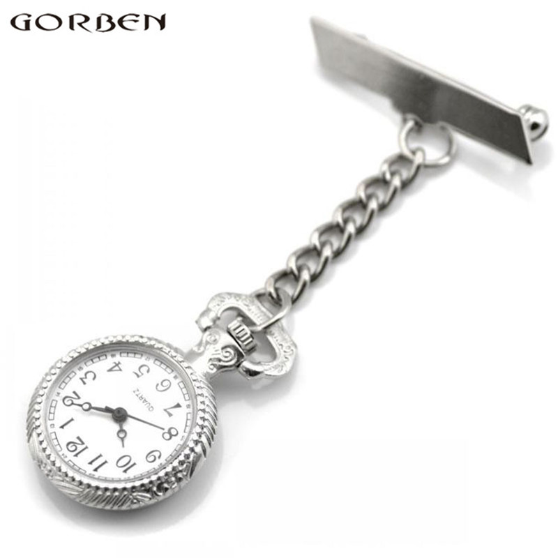 2017 New Small Size Nurses Watch Clip-on Hanging Brooch Quartz Pocket Watch Women Pocket Watches Ladies Watches Small Clock P369 fghgf 7pcs new 10 5 heavy duty nut rivet tool m3 m4 m5 m6 m8 rivnuts nutsert insert kit hand riveters nut guns