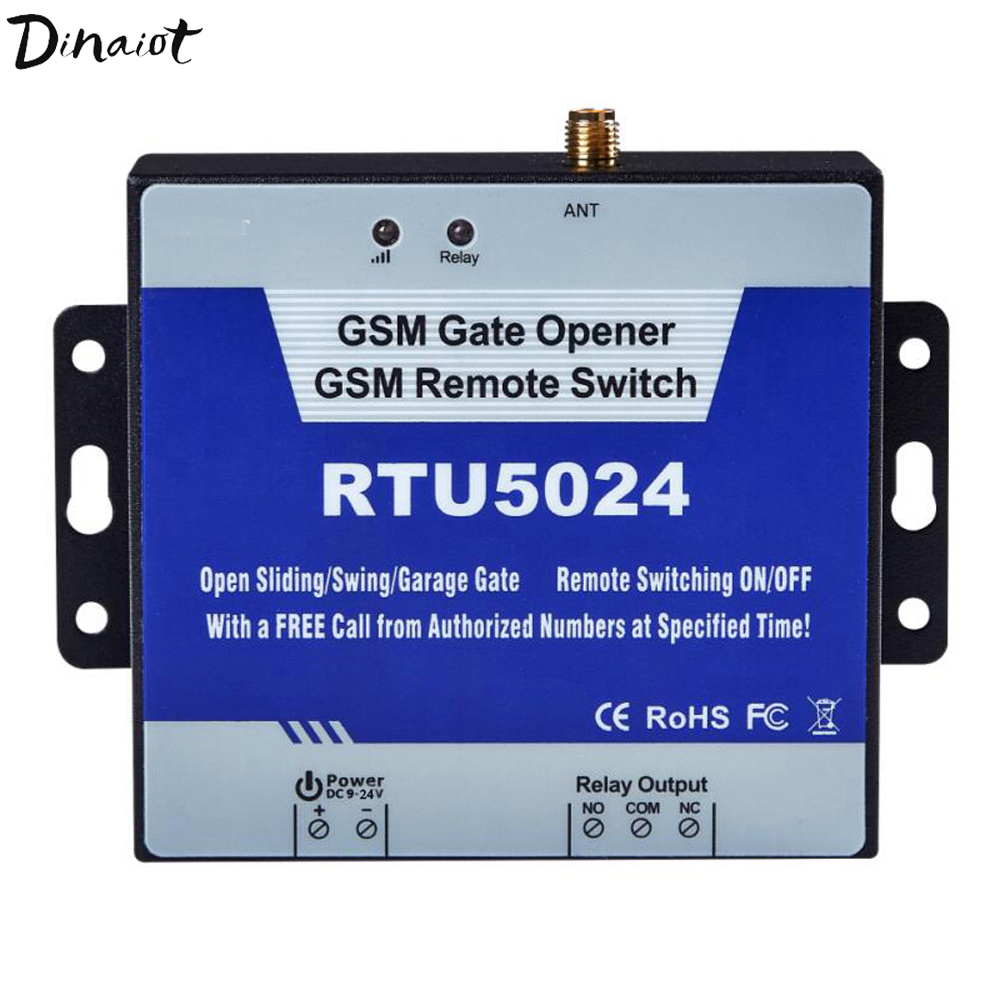 GSM Gate Opener Relay Switch Garage Door Remote Control Wireless Sliding Gate Opener By Free Call