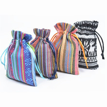 Drawstring Fabric Gift Bag Packing Storage Linen Cotton Jewelry Pouches Sacks For Wedding Party Favors DIY Bags