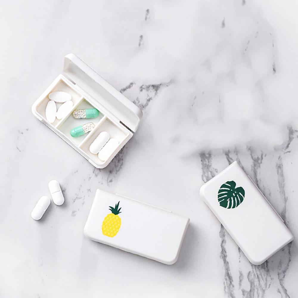 Mini Pill Box Portable Medicine Storage Case 3 Lattices Day Pills Organizer Home Travel Convenient Container Ins Style F72