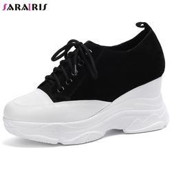 SARAIRIS/Новое поступление 2019, высокое качество, большие размеры 33-42, разноцветные туфли, женские сникерсы на шнуровке, женская обувь на плоской